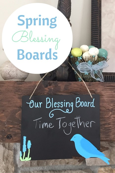 inspire your family to be thankful with a spring blessing board