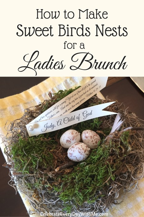 How to Make Sweet Birds Nests for a Ladies Lunch - tutorial