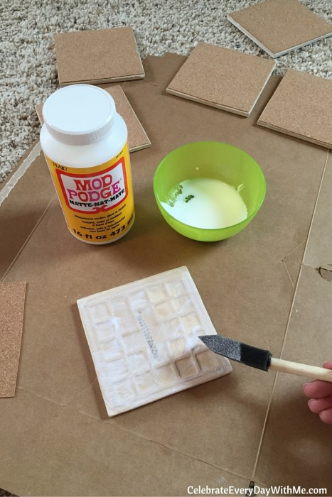 How to Make Tiles into Coasters for Party Favors (10)