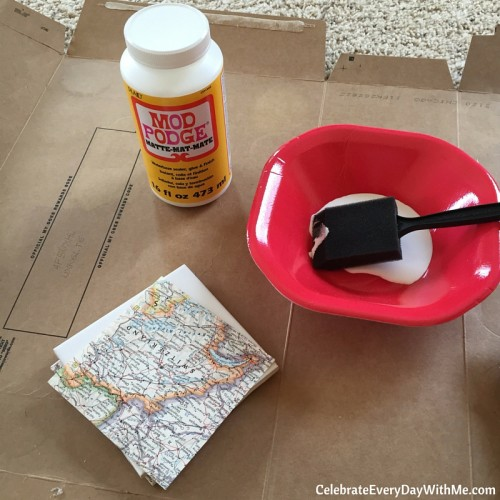 How to Make Tiles into Coasters for Party Favors
