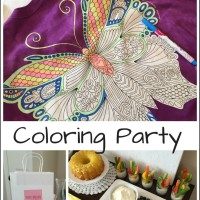 How to throw an AMAZING coloring party with Colorwear tshirts