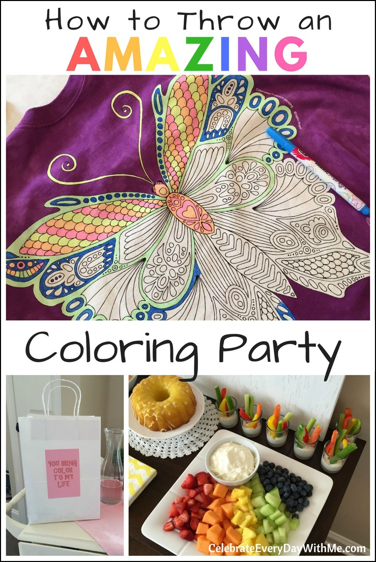 How to Throw an AMAZING Coloring Party
