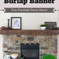 Fun Football Party Decor:  How to Make a Burlap Banner