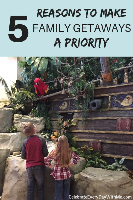 5 Reasons to Make Family Getaways a Priority - need to remember this and do it!