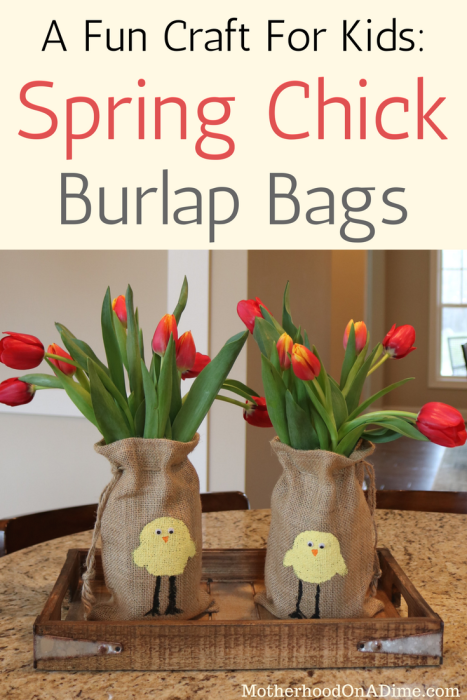 A Fun Craft for Kids- Spring Chick Burlap Bags (6)