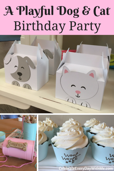 A Playful Dog & Cat Birthday Party