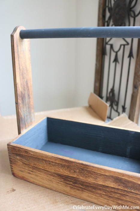 How to Turn a Junky Tool Box into a Beautiful Tea Caddy (16b)
