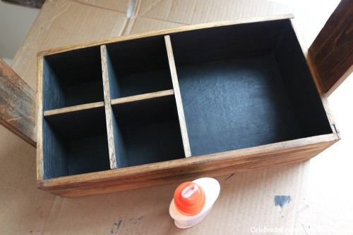 How to Turn a Junky Tool Box into a Beautiful Tea Caddy (23b)