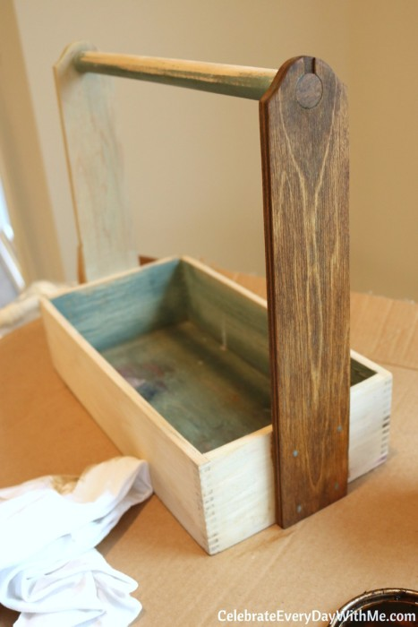 How to Turn a Junky Tool Box into a Beautiful Tea Caddy (3b)
