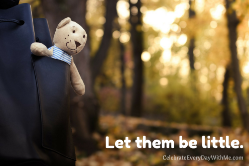 Let them be little. - Article on protecting the innocence of your child.