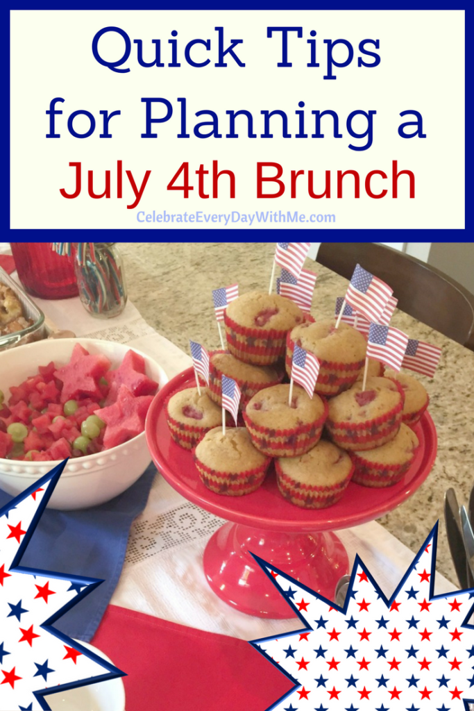 Quick Tips for Planning a July 4th Brunch