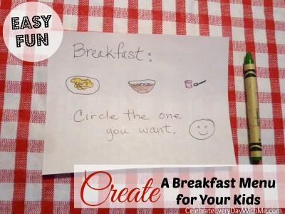 easy breakfast fun.create a menu