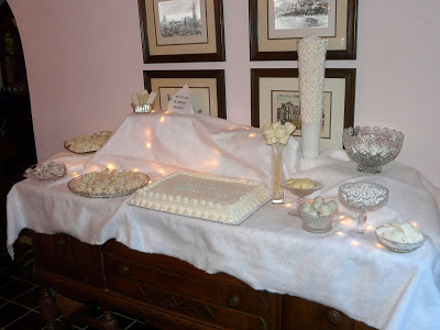 An Outdoor Themed Bridal Shower ~ The Snowy White Dessert Table