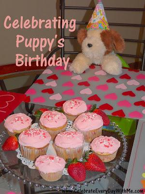 celebrating puppy's birthday