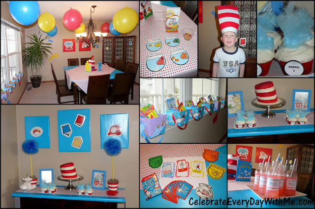 A Dr Seuss Party Decorations Celebrate Every Day With Me