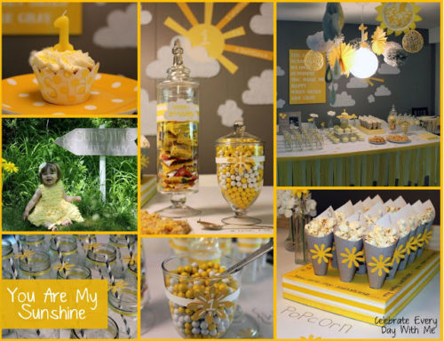 You Are My Sunshine Party Celebrate Every Day With Me