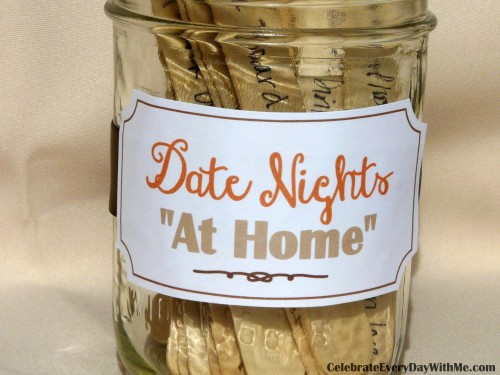 Date Night at Home ideas.