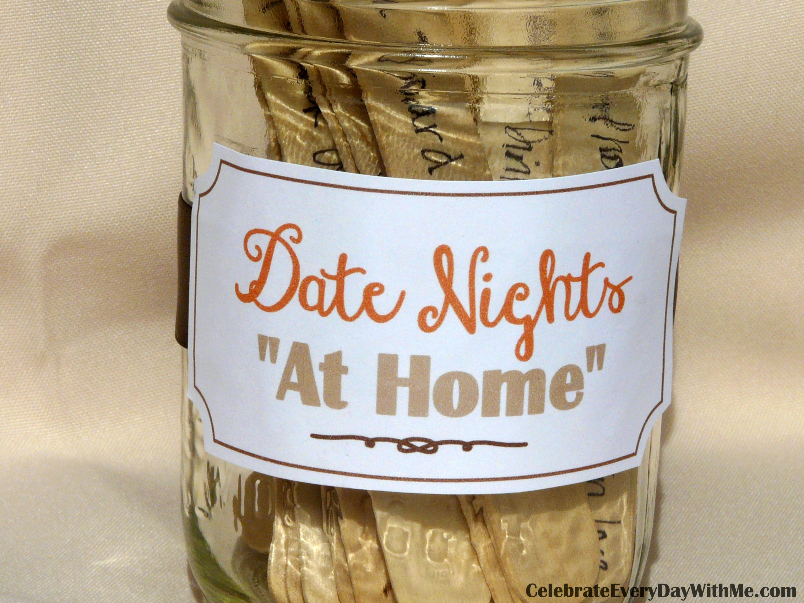 "30 ideas for date nights ""at home"" - celebrate every day with me"