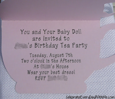 I Made The Tea Cup And Bag Invitations Using Print Cut Feature On My Silhouette Cameo Wanted A Room Filled Little Dresses So We Sure To