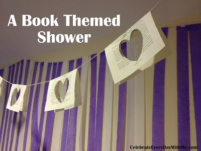 book themed shower - library shower
