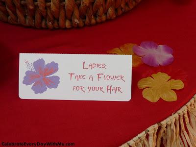 luau flower for hair