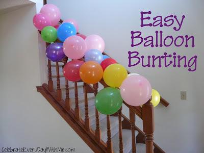 easy balloon bunting