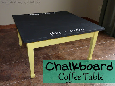 create a chalkboard table celebrate every day with me