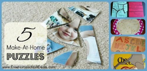 5 Make at Home Puzzles 1