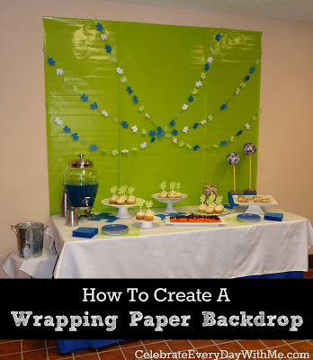 How to Create a Wrapping Paper Backdrop