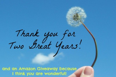 two great years and amazon giveaway