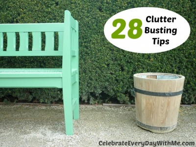 28 Clutter Busting Tips