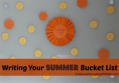 Writing Your Summer Bucket List