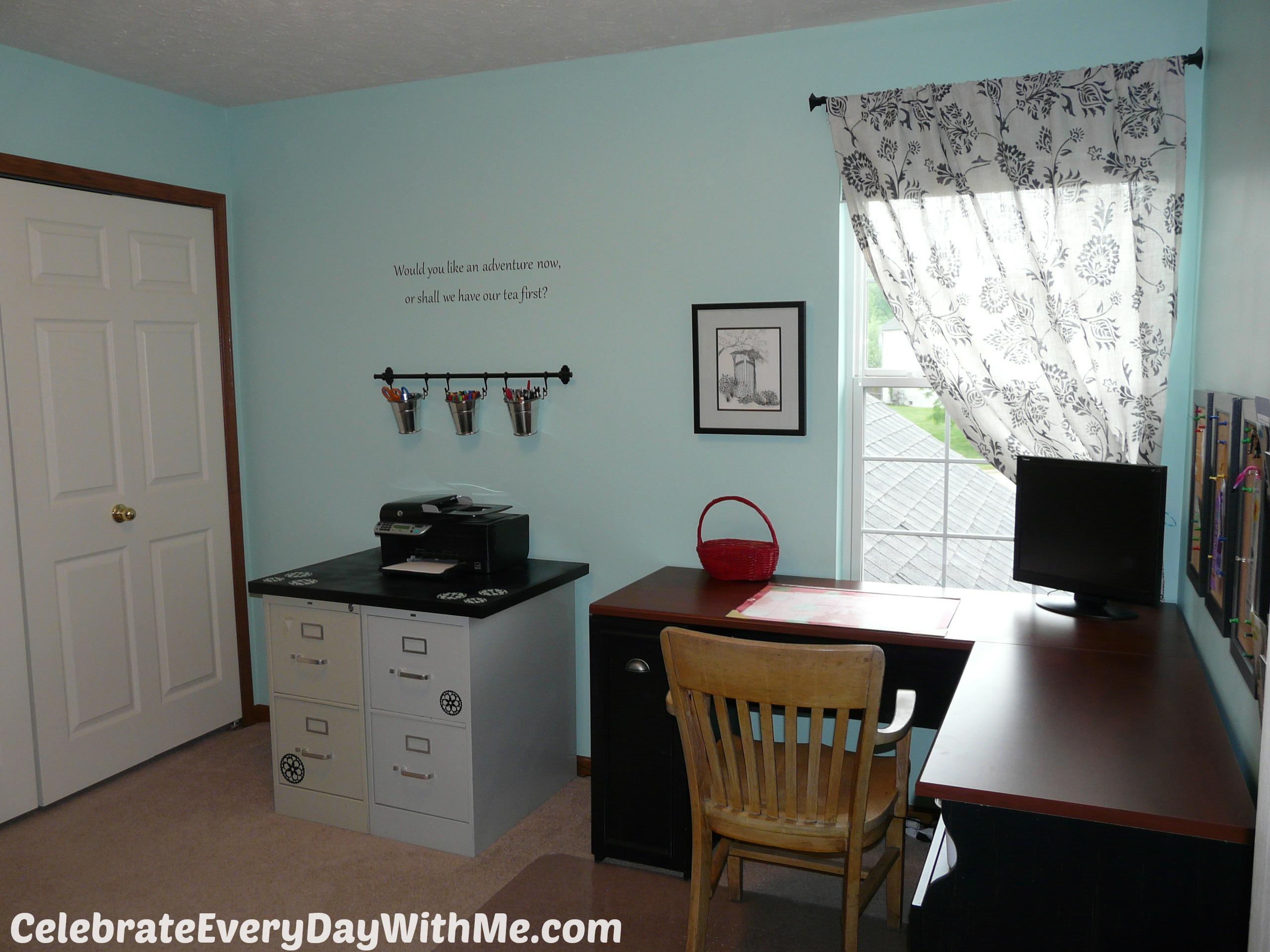 A Little Office Renovation Project Celebrate Every Day