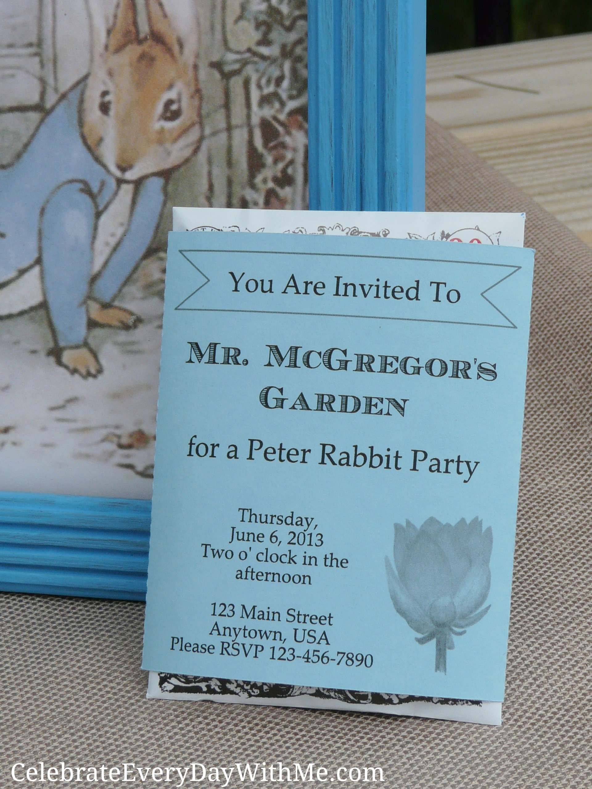 A Peter Rabbit Party {part 2} | Celebrate Every Day With Me