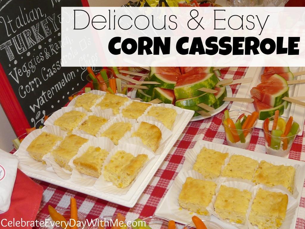 delicious and easy corn casserole recipe