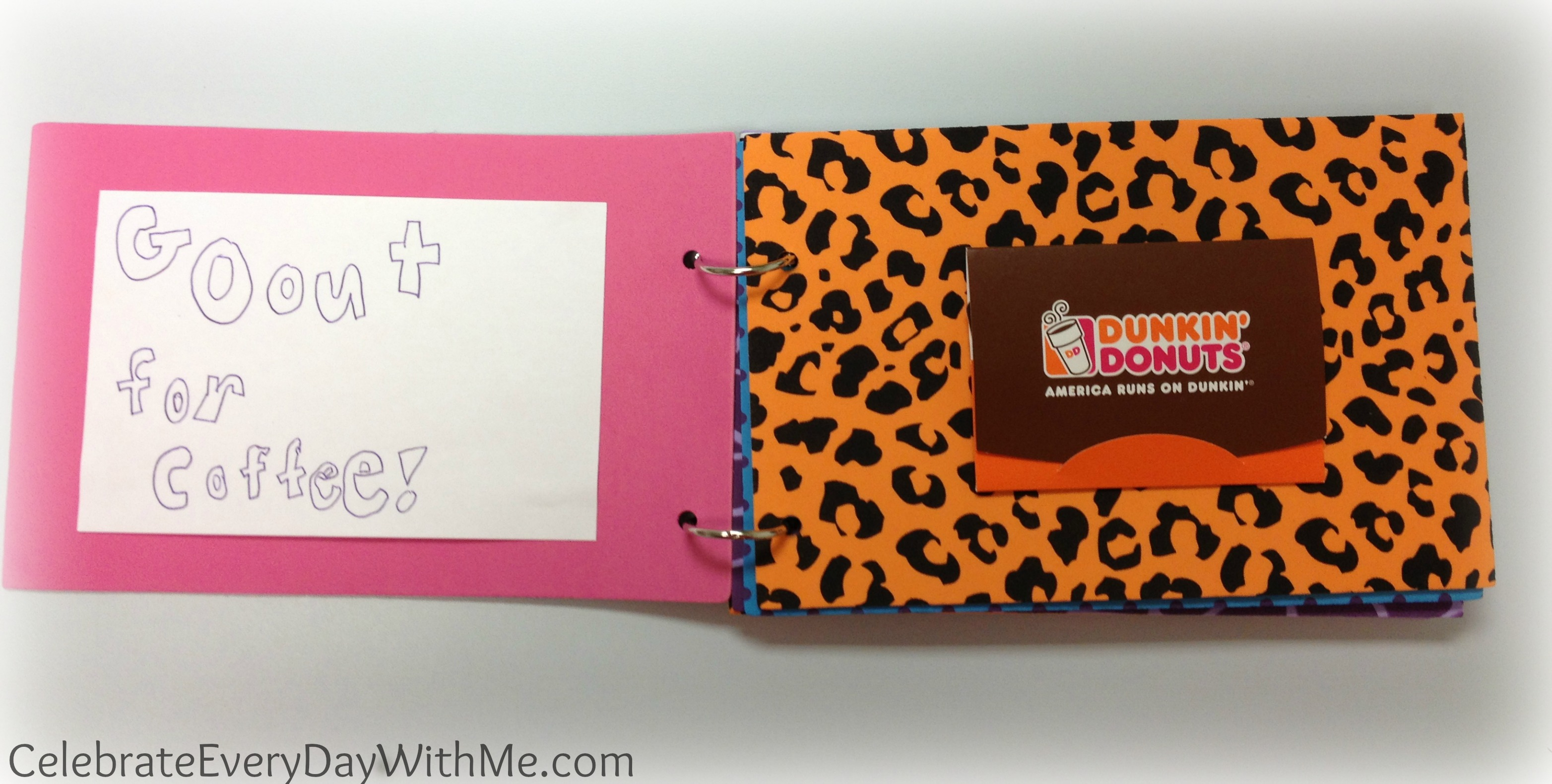 Gift Card Booklet Celebrate Every Day With Me