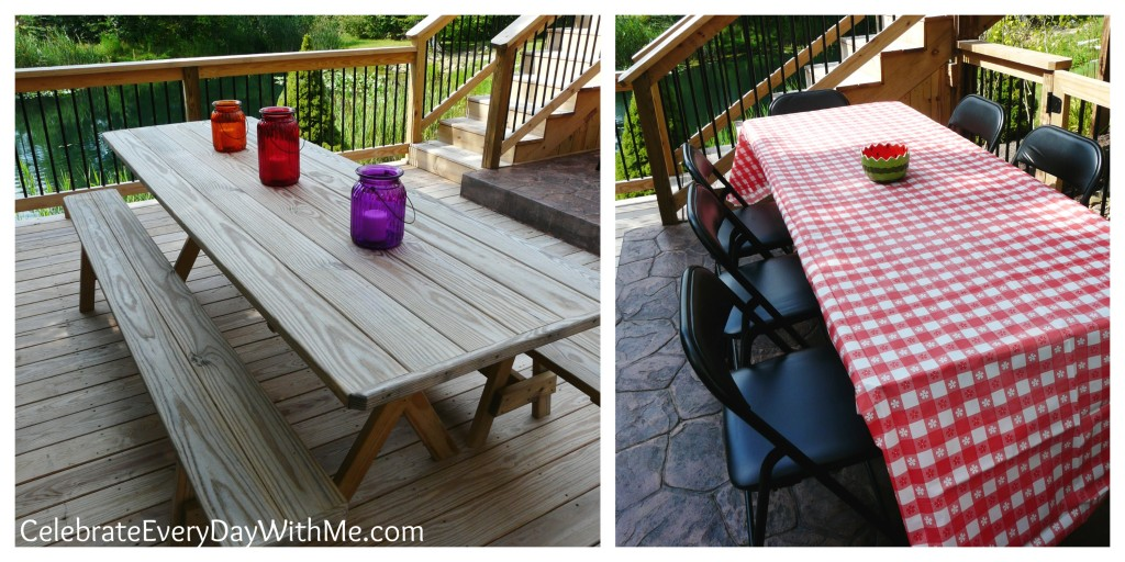 simple picnic party tables