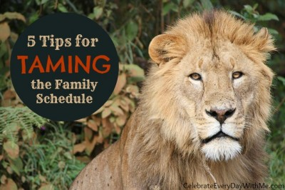 5 tips for taming the family schedule