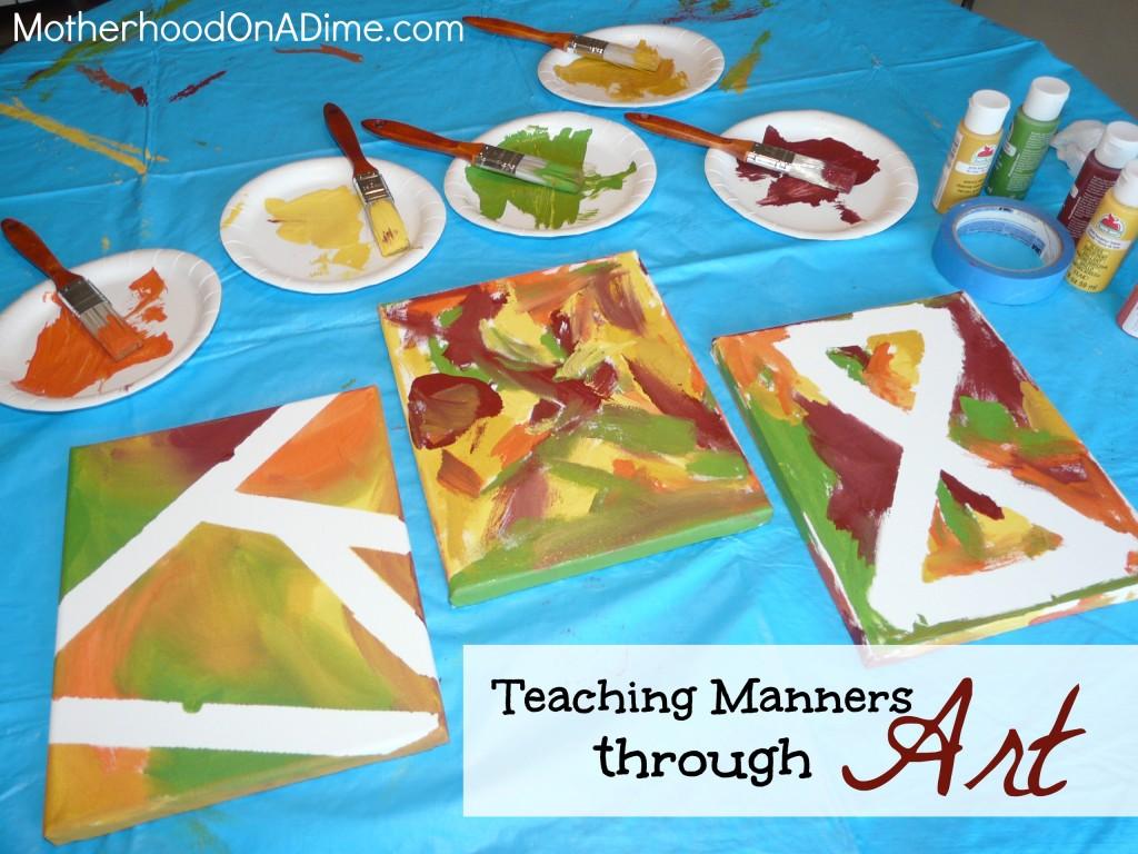 Teaching manners through art