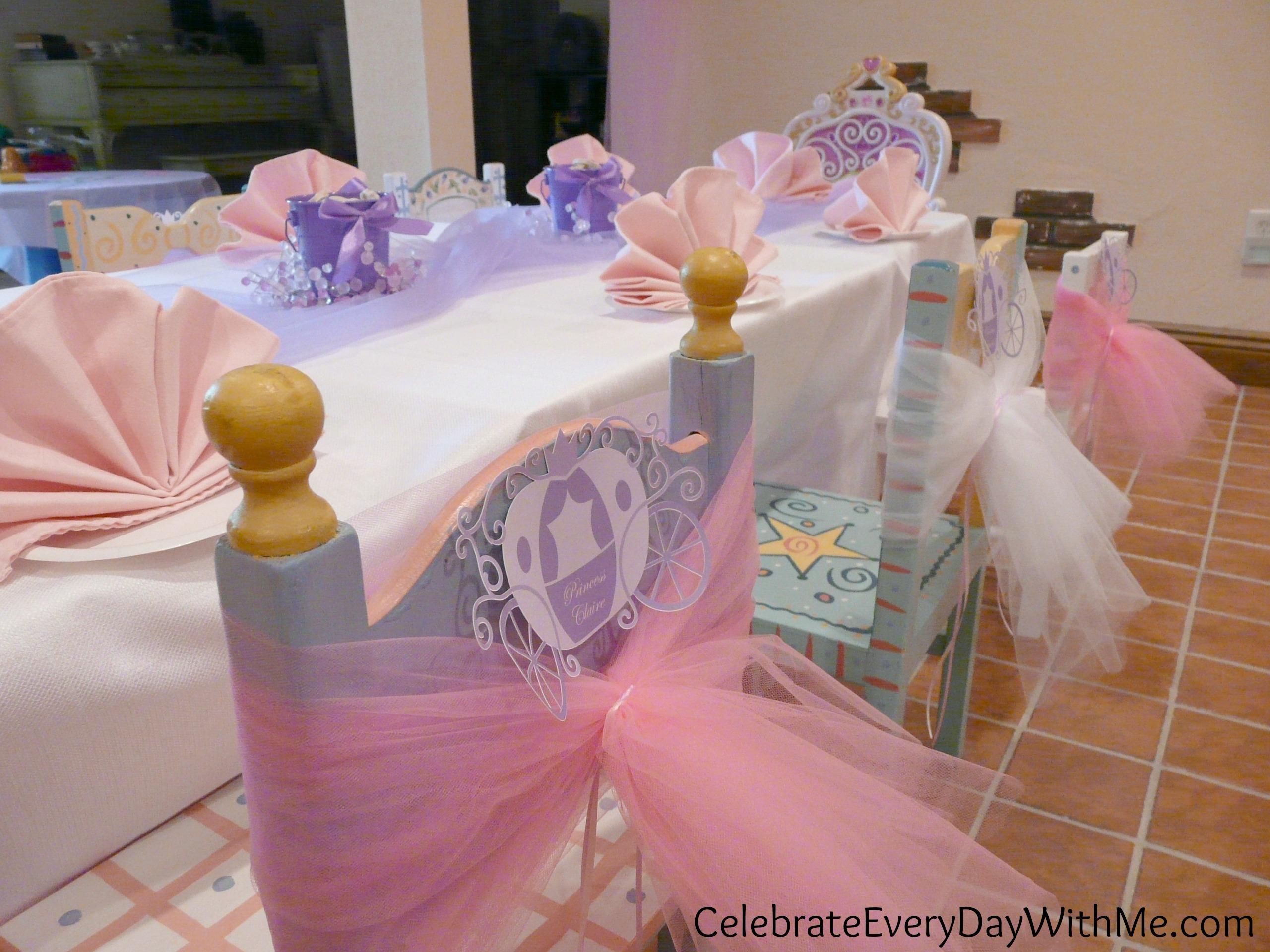 Disney princess party part one celebrate every day with me for Princess birthday party crafts