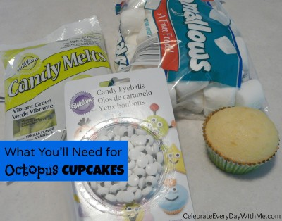 ingredients for octopus cupcakes