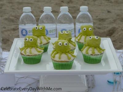 making octopus cupcakes 5