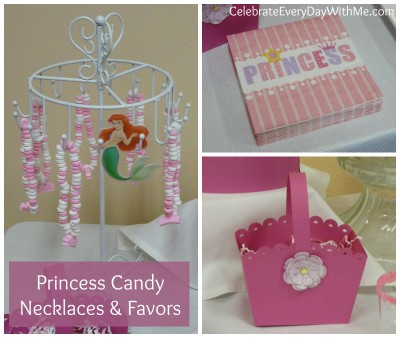 princess candy necklaces and favors