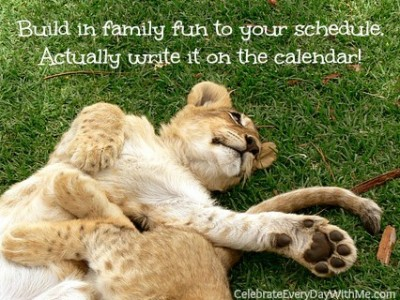 schedule family fun