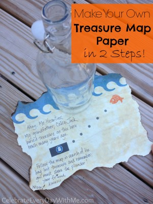 make your own treasure map paper in 2 steps