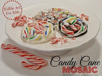 candy cane mosaic edible art 2