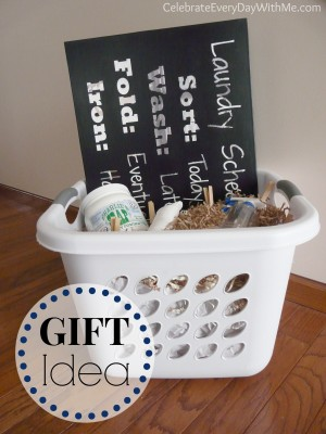 Laundry Themed Gift Basket