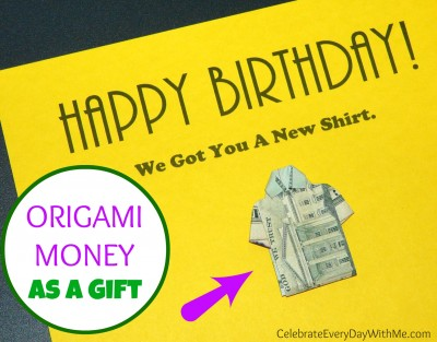 Origami Money as a Gift