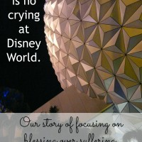 There Is No Crying at Disney World