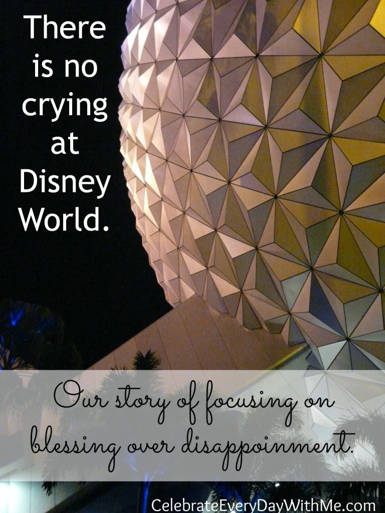 There is no crying at Disney World.1